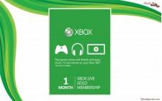 كارت طلايي  1 ماه ایکس باکس لایو Xbox Live Gold 1 Months